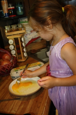 Jemma mixing eggs